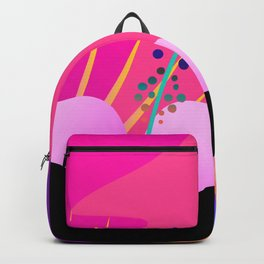 Hot Tropical Colors With Bird Of Paradise Backpack