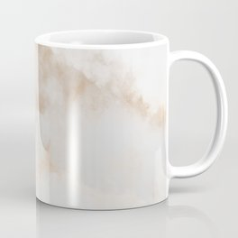 Elegant White Gold Pastel Gray Abstract Marble Coffee Mug