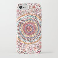 bohemian iPhone & iPod Cases featuring Sunflower Mandala by Janet Broxon