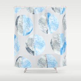 Feather Cloud Dot Pattern Shower Curtain