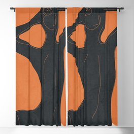 Abstract Nude I Blackout Curtain