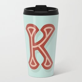 BOLD 'K' DROPCAP Travel Mug