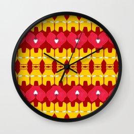 Iron Man Pattern Wall Clock