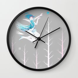 Little Blue Bird Wall Clock