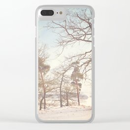 Winter Trees. Clear iPhone Case