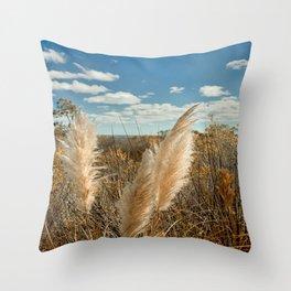 Autumn Sea Oats Throw Pillow