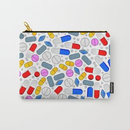 Pills Isolated On White Background Carry-All Pouch