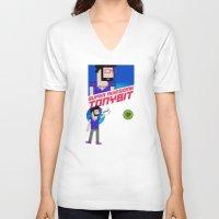 8 bit V-neck T-shirts featuring 8-bit by EarlyHuman