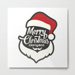 Christmas Shirts Santa Claus Design Metal Print