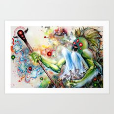Architect of Prehysterical Myth Art Print