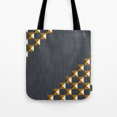 Denim with Gold Studs Tote Bag