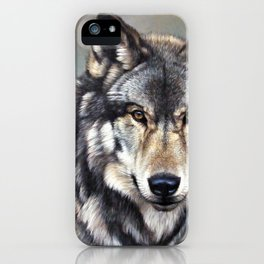 Timber Wolf by Alan M Hunt iPhone Case
