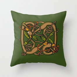Celtic Hounds Knot One Throw Pillow