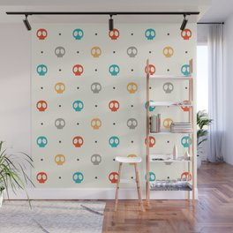 Pattern Skulls Color Wall Mural