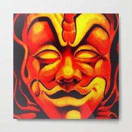 Fire Clown Metal Print