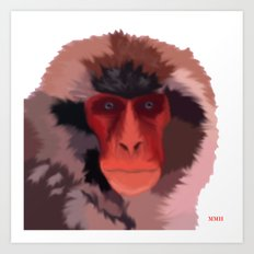 Snow Monkey Art Print