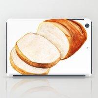 bread iPad Cases featuring White bread by Nadezhda Shoshina