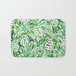 TROPICAL SITCH Green Pineapple Watercolor Bath Mat