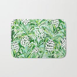 TROPICAL SITCH Green Pineapple Watercolor Bath Mat