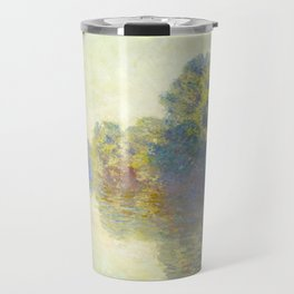 The Seine at Giverny Claude Monet 1897 Impressionist Oil Painting Nature Trees Lake Landscape Travel Mug