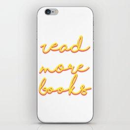Read More Books iPhone Skin