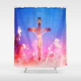 Lamb Of God ... By LadyShalene Shower Curtain