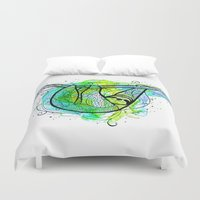 sloth Duvet Covers featuring Sloth by Nemki