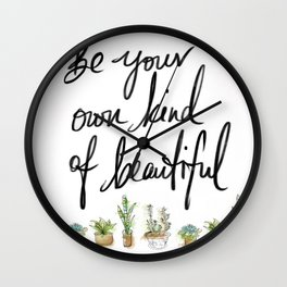 Be you own kind of beautiful pillow Wall Clock