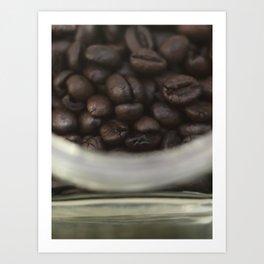 Coffee beans in glass Jar - fine art - still life - interior decoration, for bar & coffeehouse,  #1 Art Print