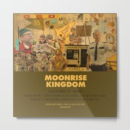 Moonrise Kingdom - Wes Anderson Metal Print