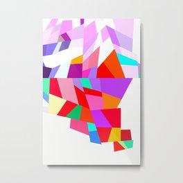 Happy colourful geometric pattern Metal Print