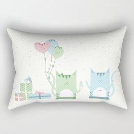 Traveling Tabbies: Happy Birthday! Rectangular Pillow