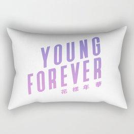 bts bangtan boys forever young Rectangular Pillow