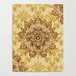 Stylish Gold Mandala Poster
