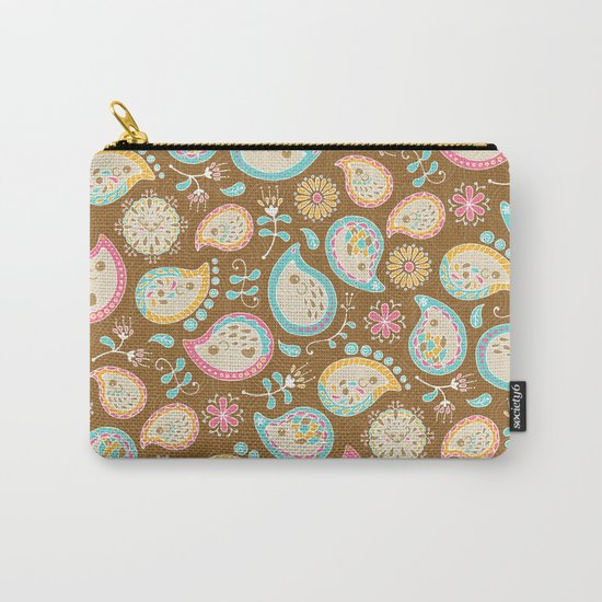 Hedgehog Paisley_Colors and Cocoa Carry-All Pouch