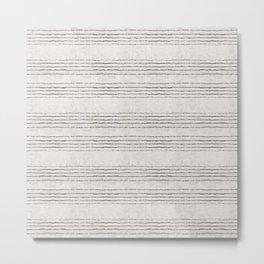 LINEN STRIPE RUSTIC Metal Print