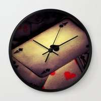 poker Wall Clocks featuring Poker  by    Amy Anderson