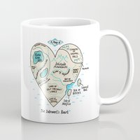 introvert Mugs featuring A Map of the Introvert's Heart by gemma correll