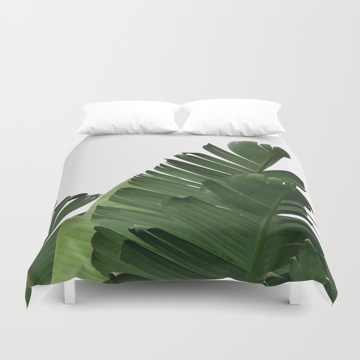 Minimal Banana Leaves Duvet Cover