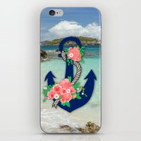 anchors iPhone & iPod Skins featuring Anchors by Bri Delasole