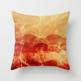 Energy Waves - Fire Version Throw Pillow