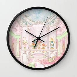 Paris Pink Patisserie Wall Clock
