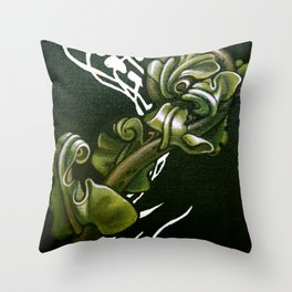 Kiokio - Unfolding Fern Throw Pillow