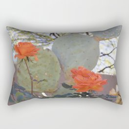 Cactus Rose Rectangular Pillow