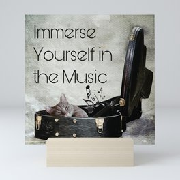 Milonga Cat - Immerse Yourself in the Music Mini Art Print