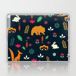 Cute little animals among flowers Laptop & iPad Skin