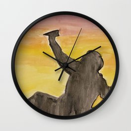 No Winter Can Last Forever Wall Clock