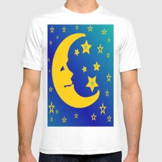 Mr. Moon MEDIUM White Mens Fitted Tee