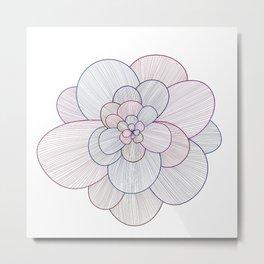 Colorful Lightness Flower Metal Print
