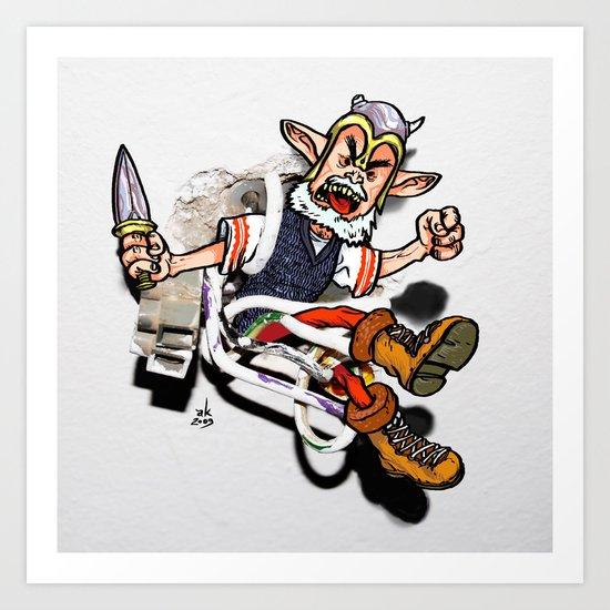 Elf in the Wall Art Print